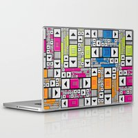popart Laptop & iPad Skins featuring ScrollBar PopArt by Roberlan Borges