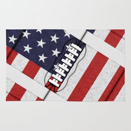 4th of July American Football Fanatic Rug