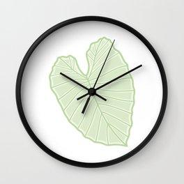 Alocasia Leaf Illustration Wall Clock