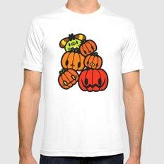 Rin Rin pumpkin Halloween Mens Fitted Tee White MEDIUM