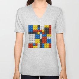 Mondrian blocks Modern Art Unisex V-Neck