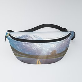 Mountain Road - Grand Tetons Nature Landscape Photography Fanny Pack