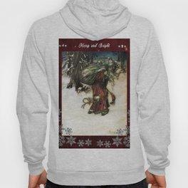 Father Christmas 2, Vintage Arthur Rackham Santa Hoody