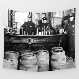 Prohibition - Speakeasy Police Raid Bootlegger - Moonshine Alcohol Wall Tapestry
