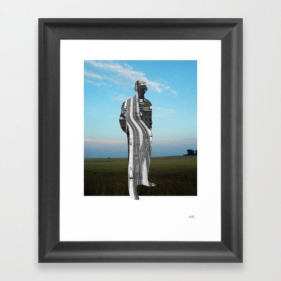 City Man´s Dream Collage Framed Art Print