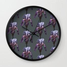 iris: shades of grey Wall Clock