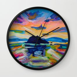 Altered Scape Wall Clock