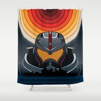 pacific rim Shower Curtains featuring Pacific Rim by milanova