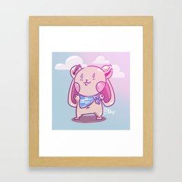 Jiggle Bunny Framed Art Print