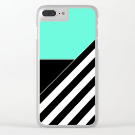 Asymmetrical patchwork 2 Clear iPhone Case