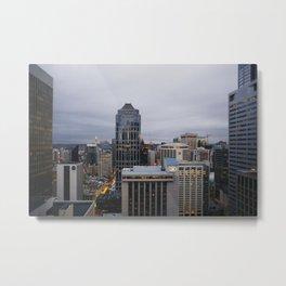 Downtown Seattle Cityscape Metal Print