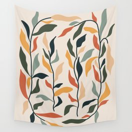 retro leaf tiles  Wall Tapestry