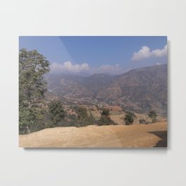 Mountains in Sindhupalchok Nepal Metal Print