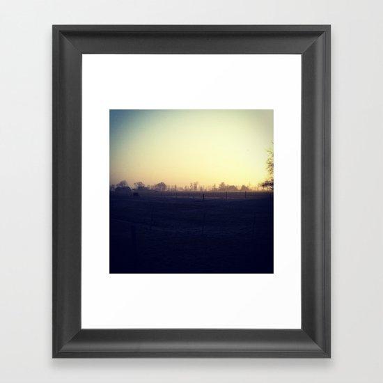Halfhalf Framed Art Print