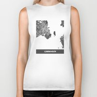 copenhagen Biker Tanks featuring Copenhagen by Map Map Maps