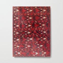 Eagle Group 1 17th Century Turkmen Carpet Print Metal Print