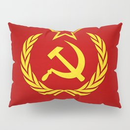 Hammer and Sickle Textured Flag Pillow Sham
