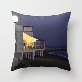 Varazze by night Throw Pillow
