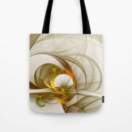 Fractal Art Precious Metals, Abstract Graphic Tote Bag