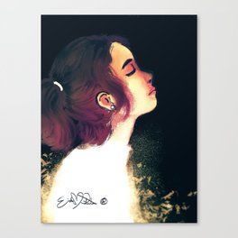 Black Space Canvas Print