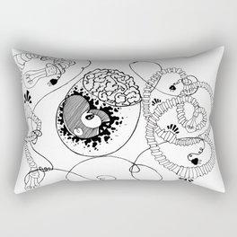 Egg Brain Rectangular Pillow