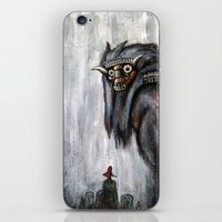 shadow of the colossus iPhone & iPod Skins featuring Wander and the Colossus by Doom
