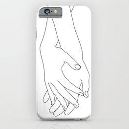 Holding hands illustration - Elana White iPhone Case