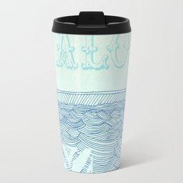 Blue Aloha Travel Mug