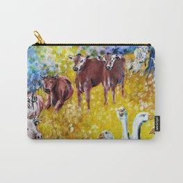 Farm Animals Protected by Brigit Carry-All Pouch