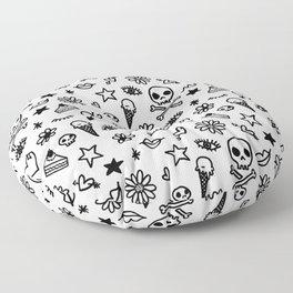 Doodle Pattern Floor Pillow