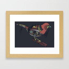 Ruby Throated Framed Art Print