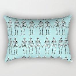 Blue Skel Rectangular Pillow