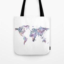 Watercolor Floral Map Tote Bag