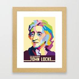 John Locke in Pop Art Portrait Framed Art Print