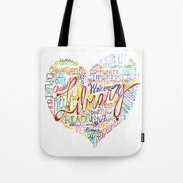 Library Heart Tote Bag