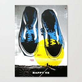 Happy Texas (Marcus' Vans) Canvas Print