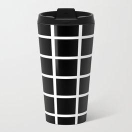 Grids Metal Travel Mug