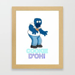 COOKIE D'OH! Framed Art Print