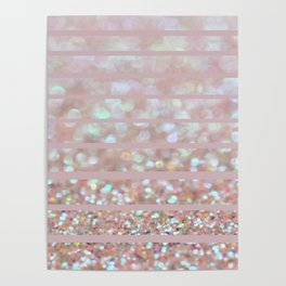 Bubbly Party and Stripes Poster
