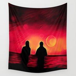 Sunset Walk Wall Tapestry