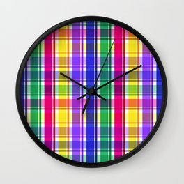 Party Plaid Daddy Ohs! Wall Clock