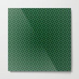 Emerald Green Diamond Pattern Metal Print