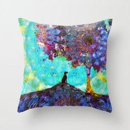 Tree Of Life Artwork - Dog Is Life - Sharon Cummings Throw Pillow