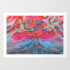 Thought Eruptions Art Print