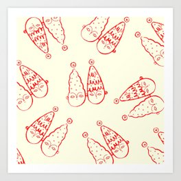 tree hats all over Art Print