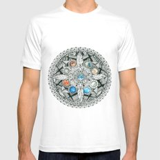 Unity MEDIUM White Mens Fitted Tee