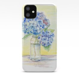 Blue Hydrangea, Still Life iPhone Case