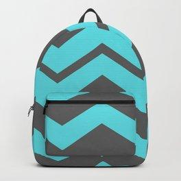 Chevron Pattern - Blue/ Smoke Gray Backpack