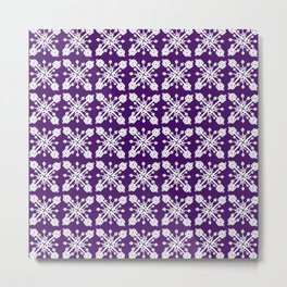 Key Pattern Purple Metal Print