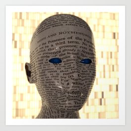 Read your Face like Book. Art Print